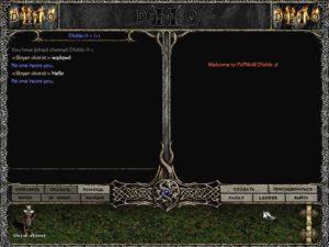 Окно чата сервера Diablo 2